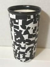 Starbucks 2014 Tall Travel Tumbler Mug 10 Oz Dot Collection Black White ... - $11.87