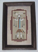 "FRAMED & MATTED AUTHENTIC SIGNED NAVAJO SAND PAINTING 6.5"" X 9.5"" - $19.95"