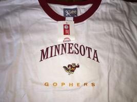 Minnesota GOPHERS Lee T-Shirt  tee 90's  Beautiful Embroidery New VTG Un... - $21.37