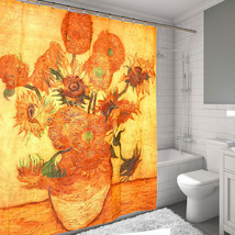 "Sunflowers by Van Gogh Printed Water Resistant Fabric Shower Curtain 70""... - $21.59"
