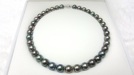 Tahitian Peacock Necklace, 10-11mm, Round shape, A quality - $910.00