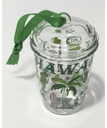 New Starbucks 2020 Glass Cold Cup Been There Series Hawaii Ornament - $23.74