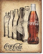 Coca Cola Coke The Real Thing Bottle Ad Vintage Retro Wall Decor Metal T... - $15.99