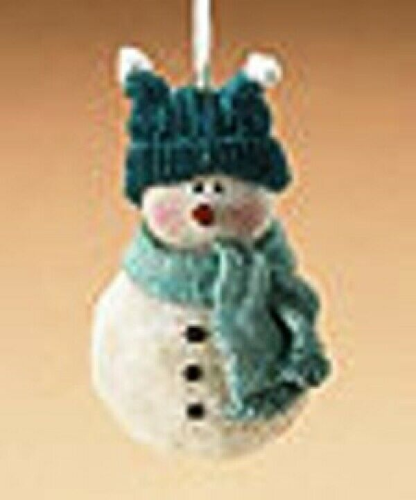 "Boyds Holiday ""Snowman"" Resin Ornament- #257418-  New- Retired"