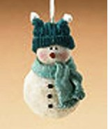 "Boyds Holiday ""Snowman"" Resin Ornament- #257418-  New- Retired - $29.99"