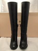 Prada Women's Calzature Donna Wedge Knee High Boots Black Nero Size 6.5 M Us - $594.00