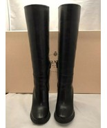 PRADA WOMEN'S CALZATURE DONNA WEDGE KNEE HIGH BOOTS BLACK NERO SIZE 6.5 ... - $594.00