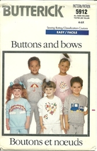Butterick Sewing Pattern 5912 Childrens Sweat Suit Pants Top Size 4 5 6 ... - $9.99