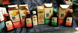 Vintage Spice bottles McCormick advertisement red almond butter walnut - $49.50