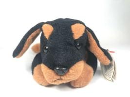 Doby The Doberman 1996 TY Beanie Babies PVC Pellets Plush Dog Puppy Vintage - $5.93