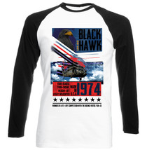 Black Hawk - New Black Sleeved Baseball Cotton Tshirt - $26.97