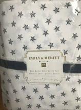 Pottery Barn Teen Band Star Sheet Set White Black Queen Emily Merritt 4pc  - $136.78