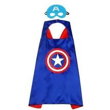 Captain America Costume Mask & Cape Plus Snap Bracelet  New Children one size  - $10.23