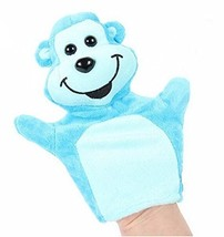Cartoon hand puppet preschool educational toys for Toddler(Blue Monkey)