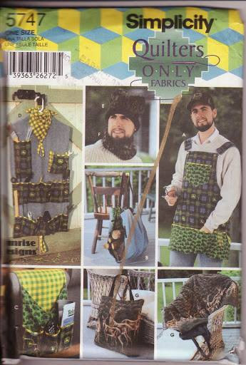 Simplicity 5747 Men's Accessories Pattern Apron Log Carrier Tool Organizer Handy
