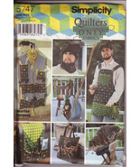Simplicity 5747 Men's Accessories Pattern Apron Log Carrier Tool Organiz... - $12.00