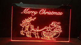 Merry Christmas LED Neon Light Sign Home Business Tree Window Decoration - $22.72