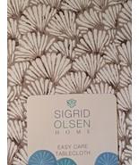 "Sigrid Olsen Shelly Beach Seashells Tan Beige Tablecloth 70"" Rd - $34.00"
