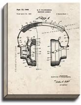 Headphones Patent Print Old Look on Canvas - $39.95+