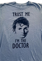 Dr. Who TRUST ME I'M A DOCTOR Mens T Shirt Light Blue 100% Cotton Sz. L - $12.77