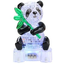 Joyfia 3D Crystal Puzzle, DIY Panda Model Jigsaw with Light-Up, 1 Set Gadget Blo