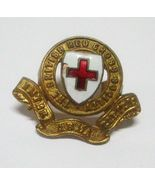 WWII British Red Cross Society Badge with Enamel Flaw Lugs - $8.96
