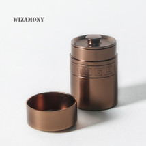 WIZAMONY Small Tea Can Canister 70ml Colorful for Tea Stainless Steel Se... - $36.05