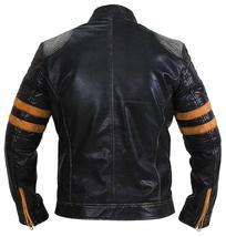 Cafe Racer Retro Black Vintage Distressed Biker Quilted Leather Jacket image 5