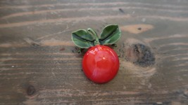 "Vintage Enamel ROBERT ROSE Cherry Brooch Pin 1.5"" - $38.61"