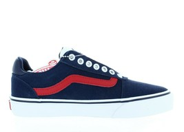 Men's Vans Ward Deluxe VN0A3WLHV1R (Retro Sport) Dark BLUE/RACING Red Ds New - $44.95