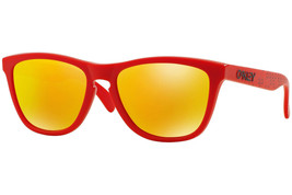Oakley Frogskins OO9013-48 55mm Sonnenbrille Matt Rotes Gestell,Gelb Blitz - $108.88