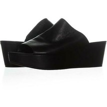 Stuart Weitzman Muletrain Platform Mules 923, Black Leather, 9.5 US - $137.27
