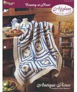 Antique Roses Afghan, The Needlecraft Shop Crochet Pattern Leaflet 942050 - $2.95