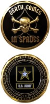 NEW United States U.S. Army Death Comes in Spades Challenge Coin. 2906. - $14.95