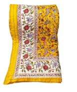 Yellow Floral Wedding Ring Quilt For Sale Handmade Soft Cotton Online For Winter - $120.00