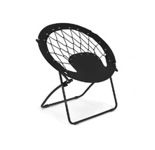 Indoor Outdoor Portable Folding Round Bungee Chair Camping Gaming Deck P... - €44,73 EUR