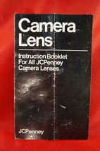 Vintage JC Penney Camera Lenses Insruction Booklet Manual - $4.93
