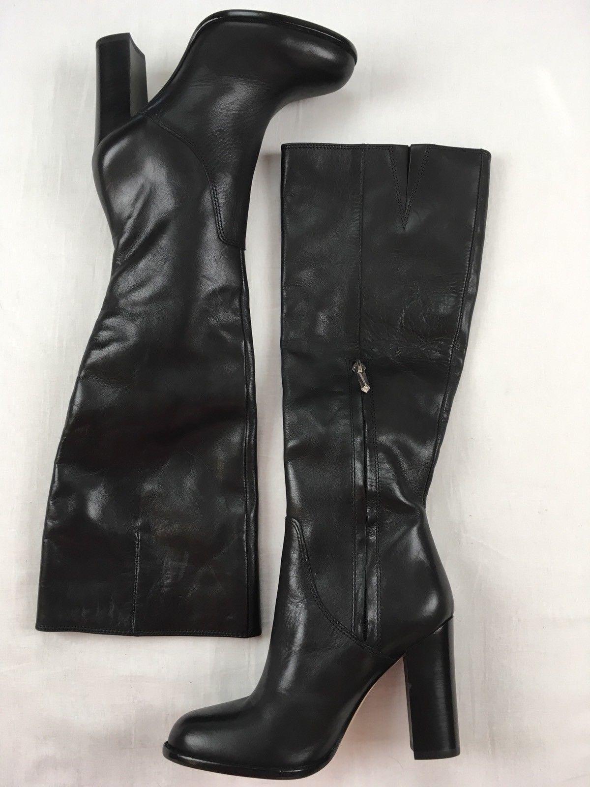 7cae4abbf SAM EDELMAN Sale New Regina Tall Knee High Heeled Leather Riding Boots  Black 5
