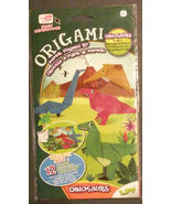 DINOSAUR theme ORIGAMI KIT with Play Mat T-Rex Pteranodon Brachiosaurus NEW - $5.99