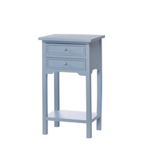 Wood Side Table, Blue Side Tables For Bedroom And Living Room - £68.56 GBP