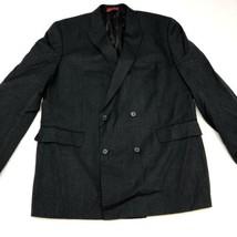 Alfani Sport Coat Blazer Men's Size 46L Gray Double Breasted Lined 100% ... - $29.99