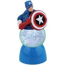 Captain America with Shield Figure Lighted 35mm Sparkler Water Globe, NE... - $12.84