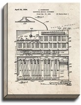 Electrical Musical Instrument Patent Print Old Look on Canvas - $39.95+