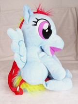 My Little Pony Friendship is Magic Rainbow Dash Plush Character Backpack Bag - $14.88