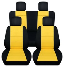 Front and Rear car seat covers Fits Jeep Wrangler JK 2007-2017  Paw prints - $189.99