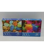 Cardinal Jigsaw Puzzle 300 Piece Colorful Sea Pebbles/Color Explosion 14... - $12.46