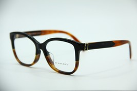 New Burberry B 2252-F 3632 Black / Havana Eyeglasses Authentic Rx B2252-F 54-16 - $92.70