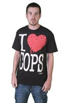 Tavik USA Mens Black White Piggy I Love Hate Cops Police Brutality T-Shirt NWT image 2