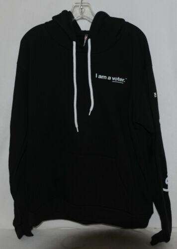 Royal Apparel  I Am A Voter Hoodie Color Black Size Extra Large