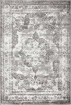 Traditional Persian Vintage Design Rug Gray Rug 4' x 6' FT (183cm x 122c... - $58.41